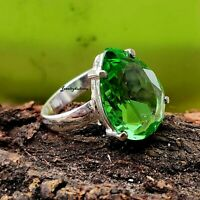 Peridote Ring - 925 Sterling Silver Band Ring - Handmade Jewelry  sr335