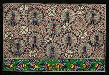 "Madhubani Folk Art Colorful Tribal Painting: Tree of Life Nature 15x22"""