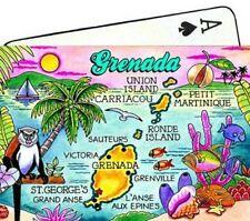 GRENADA MAP CARIBBEAN COLLECTIBLE SOUVENIR PLAYING CARDS