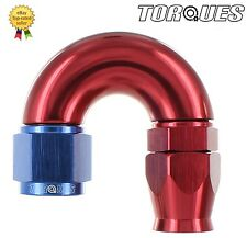 AN -6 (AN6 JIC -6 AN 06) 180 Degree ULTRAFLOW Teflon PTFE Hose Fitting
