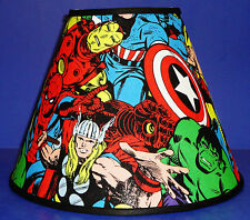 Set of 2 Ironman Marvel Comics Thor Captain America Handmade Lamp Shade