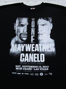 MAYWEATHER vs CANELO boxing 2013 fight LARGE T-SHIRT