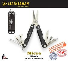 Leatherman Black Micra Keychain Mini-Tool w/Anodized Aluminum Handles 64320101K
