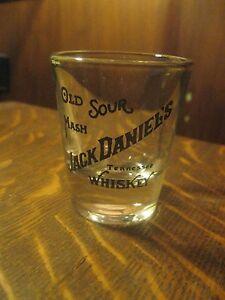 Jack Daniel's Daniels Old Sour Mash Tennessee Whiskey Retro Logo Shot Glass