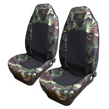 2PCS Camo Car/Van SUV Front Seat Cover High Back Bucket Camouflage Universal