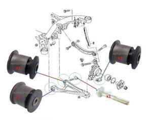 FOR AUDI Q7 3.0TDi 3.0T 4.2 LH OR RH REAR LOWER CONTROL ARM BUSH SET 07-15