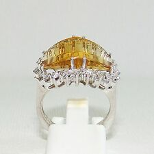 Ring Gold 585er Citrin 0,50 ct. Brillanten Goldschmuck 14 kt. Diamanten Damen