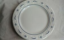 Longaberger 1 Pottery Woven Tradition Ivory Blue Dinner Plate