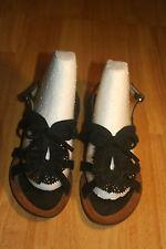 Donna Valenta Black Strap Bow Sandal Size 36
