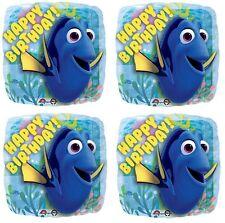 "4x Disney Finding Dory Nemo Happy Birthday Party 18"" Mylar  Foil Balloons"