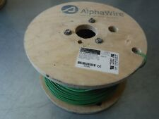 NEW 1000' AWG 14 GREEN/YELLOW STRANDED WIRE 600V 105C ALPHA WIRE 5717 AWM 11028