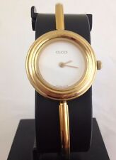Vintage Gucci Authentic Quartz Swiss Made Gold Plated Ladies 1100/1200 Watch