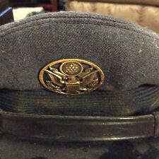 Vintage US Airforce Enlisted Service Cap Hat Air Reserve Insignia Military