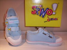 Scarpe scarpine sportive sneakers Spino neonata bimba shoes primi passi tela 20
