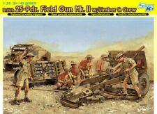 1/35 DRAGON 6675 25 PDR FIELD GUN MK.III WITH LIMBER & CREW. NEW