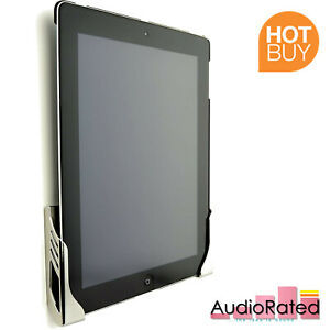 Wall Mounted Tablet Dock Holder Chrome for iPad 1, 2, 3, 4 Kitchen Bathroom