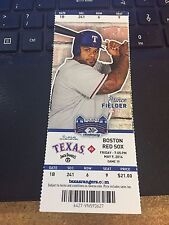 2014 TEXAS RANGERS VS BOSTON RED SOX 5/9 TICKET STUB 1ST MLB HIT Rougned Odor #1
