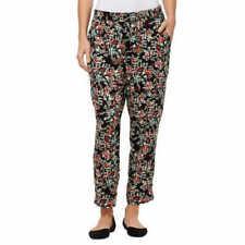 "Jessica Simpson Ladies/' Soft Printed Pant Size Large Inseam 26/"" Black Off White"