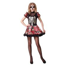 Bristol Novelty AC653 Day of The Dead Doll Costume UK 10-14