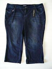 NWT $49.50 Lane Bryant size 24 dark wash jean capri pant blue denim