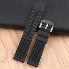 Black/Brown/Blue/Red Silicone Rubber Watch Band 18mm/20mm/22mm/24mm Waterproof