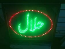 NEW HALAL SHOP FLASHING  SIGN OPEN WINDOW HANGING SIGN BOARD led,UK stock