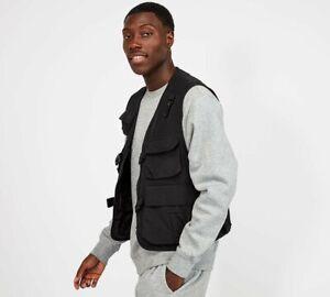 FOOTASYLUM - Ali Utility Vest (Black) Mens