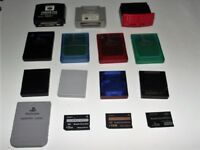Genuine Memory Cards Playstation 1 & 2 Nintendo Gamecube N64 Sony PSP Selection