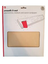 Smooth It Out - Assorted Fine, Medium And Coarse Sandpaper (20 sheets)
