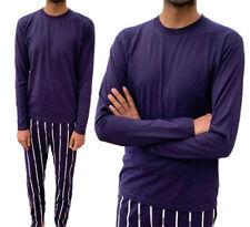 Mens Long Sleeve Pajama Set Comfy Soft Lounge Wear Stripe Sleepwear Lounge set