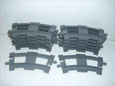 LEGO DUPLO Eisenbahn 12 hellgraue gebogene Schienen