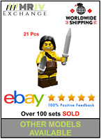 21 Minifigures Barbarian Warrior Army Military - LE GO Compatible