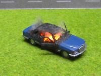 1:87 Mercedes Benz 500 SE W126 H0 Vollbrand LED 12V Feuer Laser Cut Patina #18