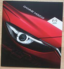 rare catalogue Gamme Mazda (3 6 CX5 2 5 MX5)- France - Octobre 2014 - 20p
