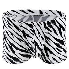 New Mens Underwear Zebra Printed Boxer Bule Pouch Shorts Brief Trunks Underpants
