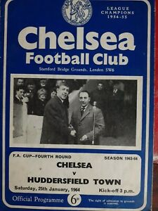 CHELSEA v HUDDERSFIELD TOWN,25/1/64. FA CUP 4TH ROUND PROGRAMME