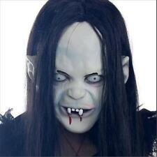 Latex Scary Long Hair Halloween Masks SADAKO Ghost Full Face Mask for Adult WOW