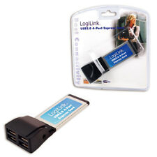 LogiLink Express Card Schnittstellenkarte USB 2.0 4x #7555