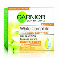 GARNIER WHITE COMPLETE LIGHT FAIRNESS MOISTURISER DARKSPOTS REMOVER CREAM 18ML
