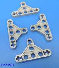 LEGO technique Nr 6009019 / Croix + Trou flach Reliure gris clair / 4 Pièces