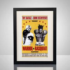 Andy Warhol Jean Michel Basquiat Exhibition 11x17 Poster Print Pop Art Painting