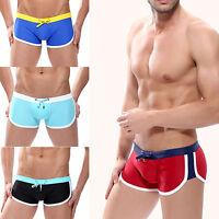 ALS_ Men Swimwear Summer Beach Shorts Boxer Swim Trunks Swimsuit Briefs Beachwea