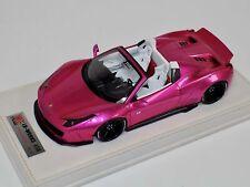 Ferrari 458 Liberty Walk Pink flash LB Performance LB Works 1:18 no BBR MR  RARE