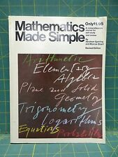Mathematics Made Simple By Abraham Sperling, Monroe Stuart Revised Edition 1962