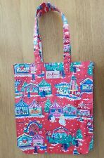 Red Christmas Festive Cath Kidston Plastic Shopping Bag Tote Fairground London