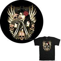 Tattoo Skull Gothic Biker Totenkopf T-Shirt *4197 br.