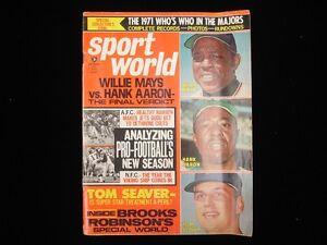 October 1971 Sport World Magazine - Willie Mays, Hank Aaron, Tom Seaver Cover