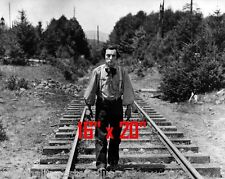 """Buster Keaton~The General~Train Tracks~Silent Comedian~Poster~Photo~ 16"""" x 20"""""""