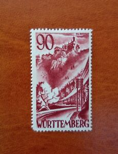 Stamp Wurttemberg French Zone Germany. MiNr37. 1948. MLH No Gum. #AB8/1 Rare.