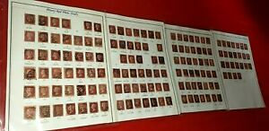 {147 PENNY RED #33 PLATE STUDY<SCOTT #71-222<All Diff (MISSING 4>/epictronic/JC}